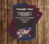 Beyblades - Tall - Birthday Party - Thank You Card