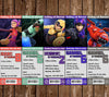 Big Hero 6 Movie Chararcters Birthday Ticket Invitations