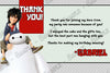 Big Hero 6 Birthday Thank You Card