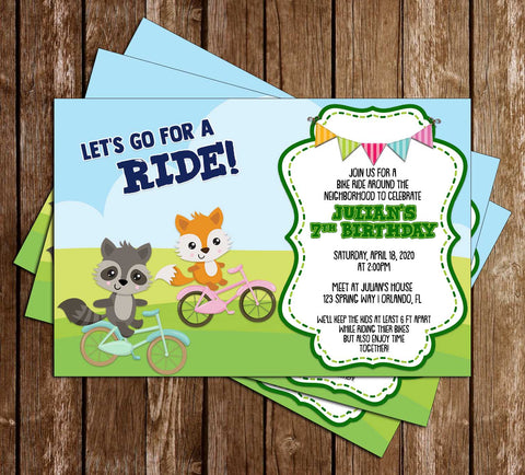Bicycle - Bike Ride - Party - Invitation