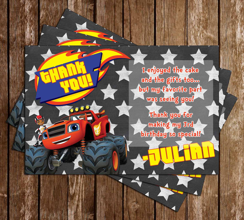 Blaze & the Monster Machines Birthday Thank You Card
