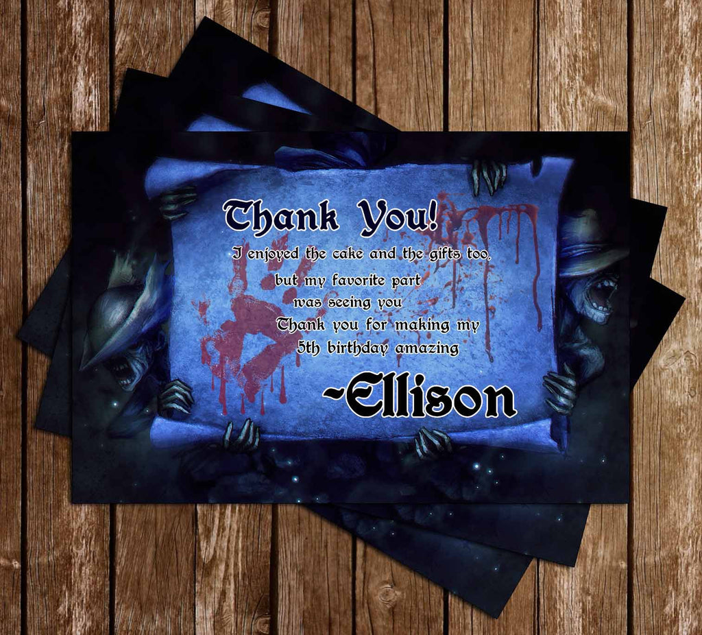 Bloodborne Game Birthday Thank You Card