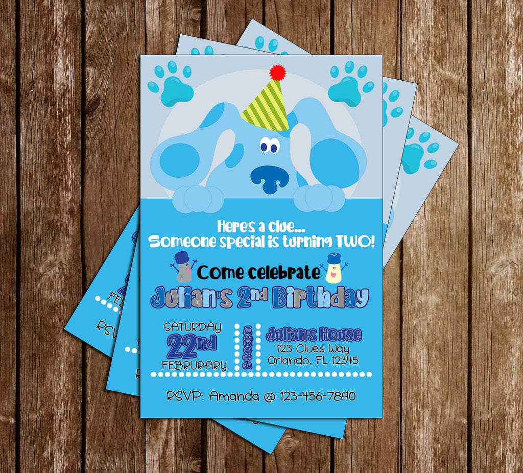 Blue's Clues - Tall - Birthday Party - Invitation