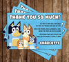 Bluey - Banner - Birthday Party - Invitation