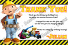 Bob the Builder Birthday Thank You Card