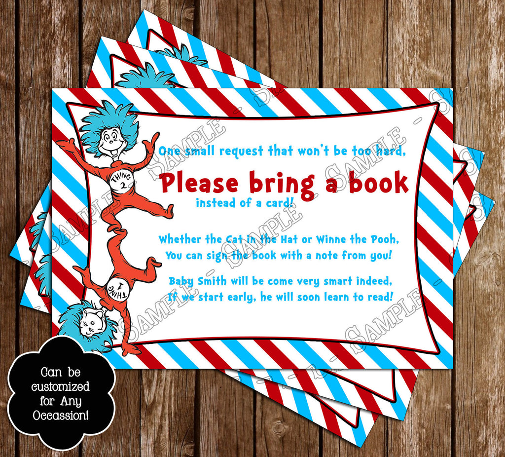 Dr Seuss - Cat in the Hat - Fish Guessing - Baby Shower Game