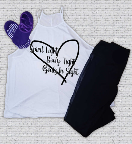 Spirit, Booty, Goals in Sight - Barre - Workout - Shirt