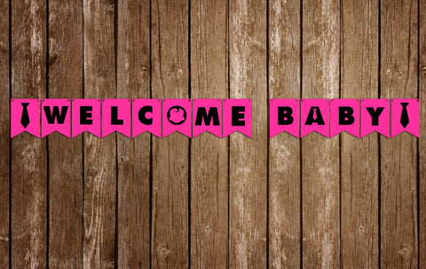 Boss Baby - Girl - Baby Shower - Banner