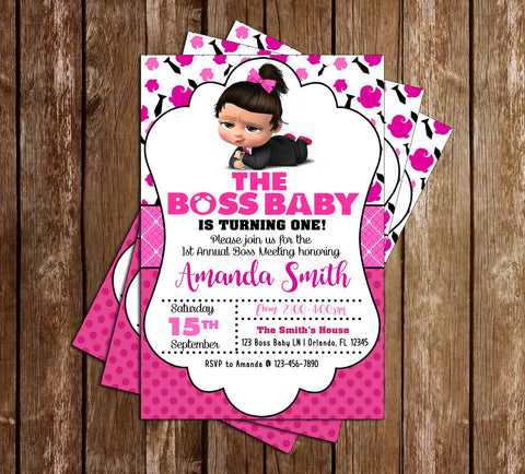 Boss Baby - Movie - Girl - Birthday - Party - Invitation