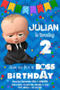 Boss Baby - Blue - Movie - Birthday Party - Thank You Card