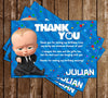 Boss Baby - Banner - Movie - Birthday Party - Thank You Card