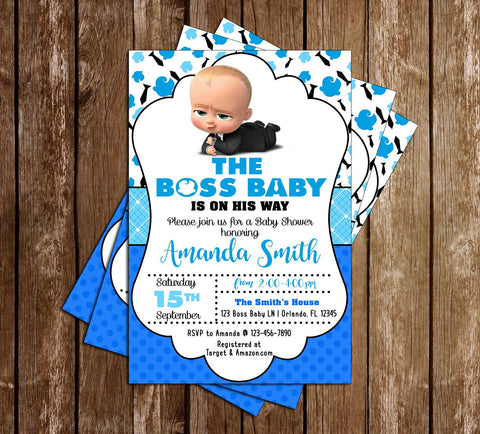 Boss Baby - Movie - Baby Shower - Invitation