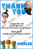 Boss Baby - Birthday Party - Thank You Card