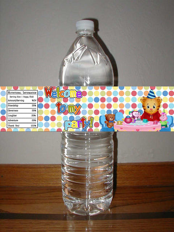 Daniel Tiger's Neighborhood Birthday Party Water Bottle Label