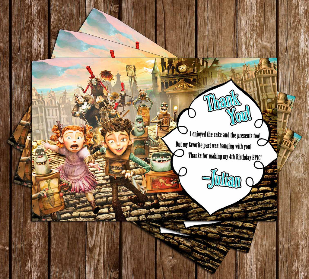The Boxtrolls Movie Birthday Thank You Card