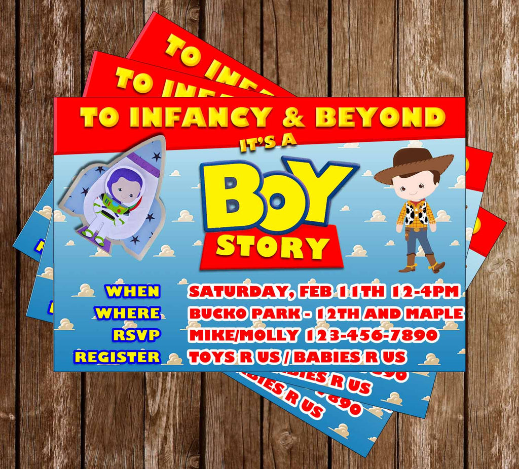 Novel Concept Designs - Toy Story - It\'s a Boy Story - Baby Shower ...