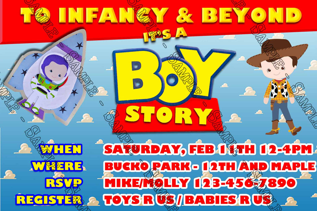 Novel Concept Designs It S A Boy Story Toy Story Baby Shower