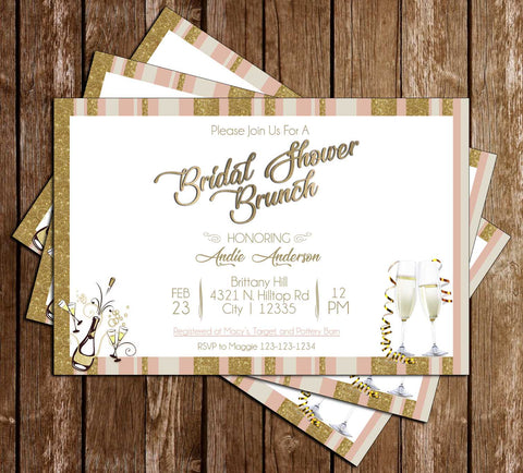 Champagne Brunch - Bridal Shower - Invitation