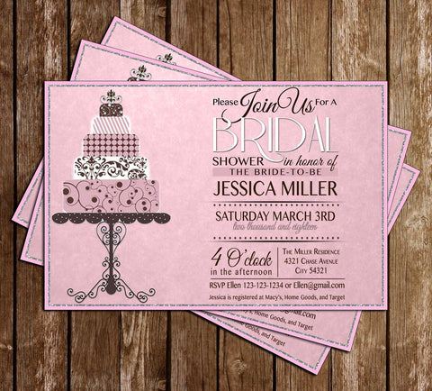 Classic Pink - Bridal Shower - Invitation