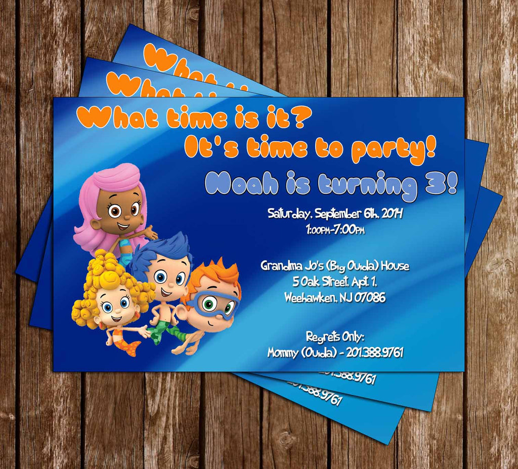 Bubble Guppies Show Birthday Invitation