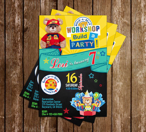 Novel Concept Designs Customized Invitations – Build a Bear Invitations Birthday