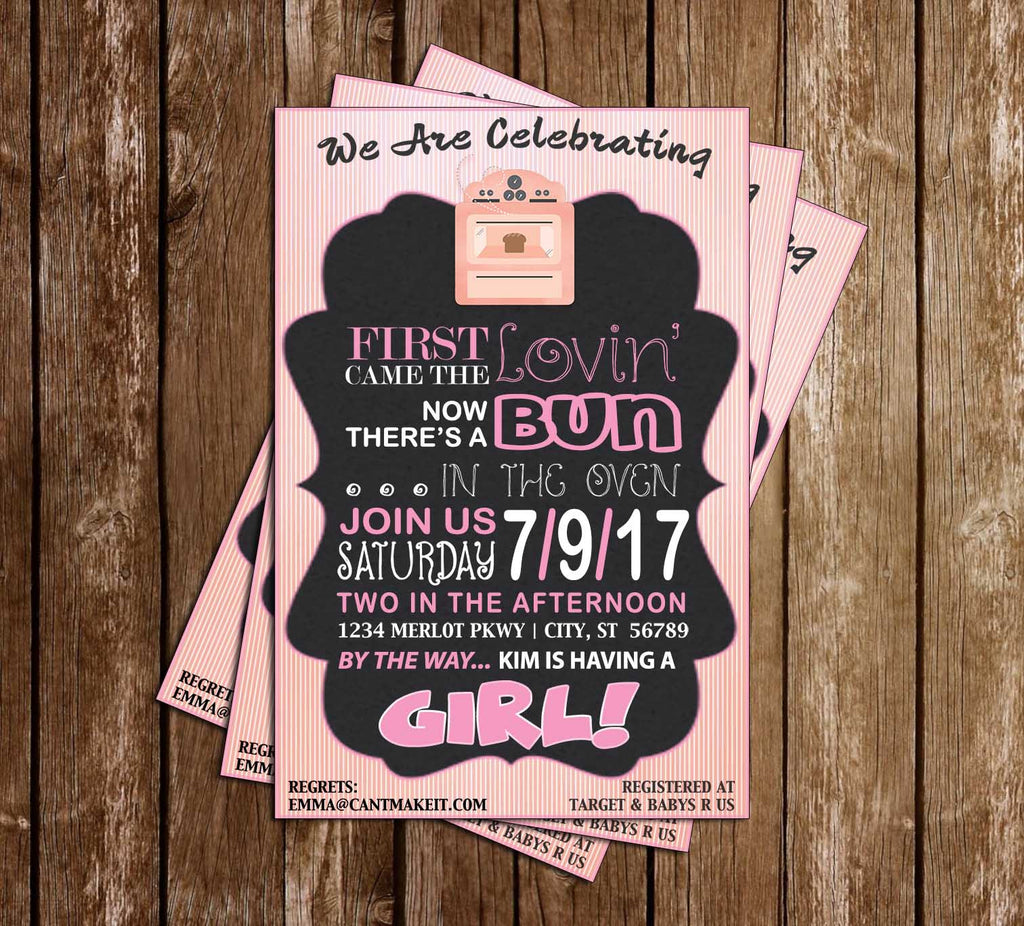 Bun in the Oven - Baby Shower - Invitation