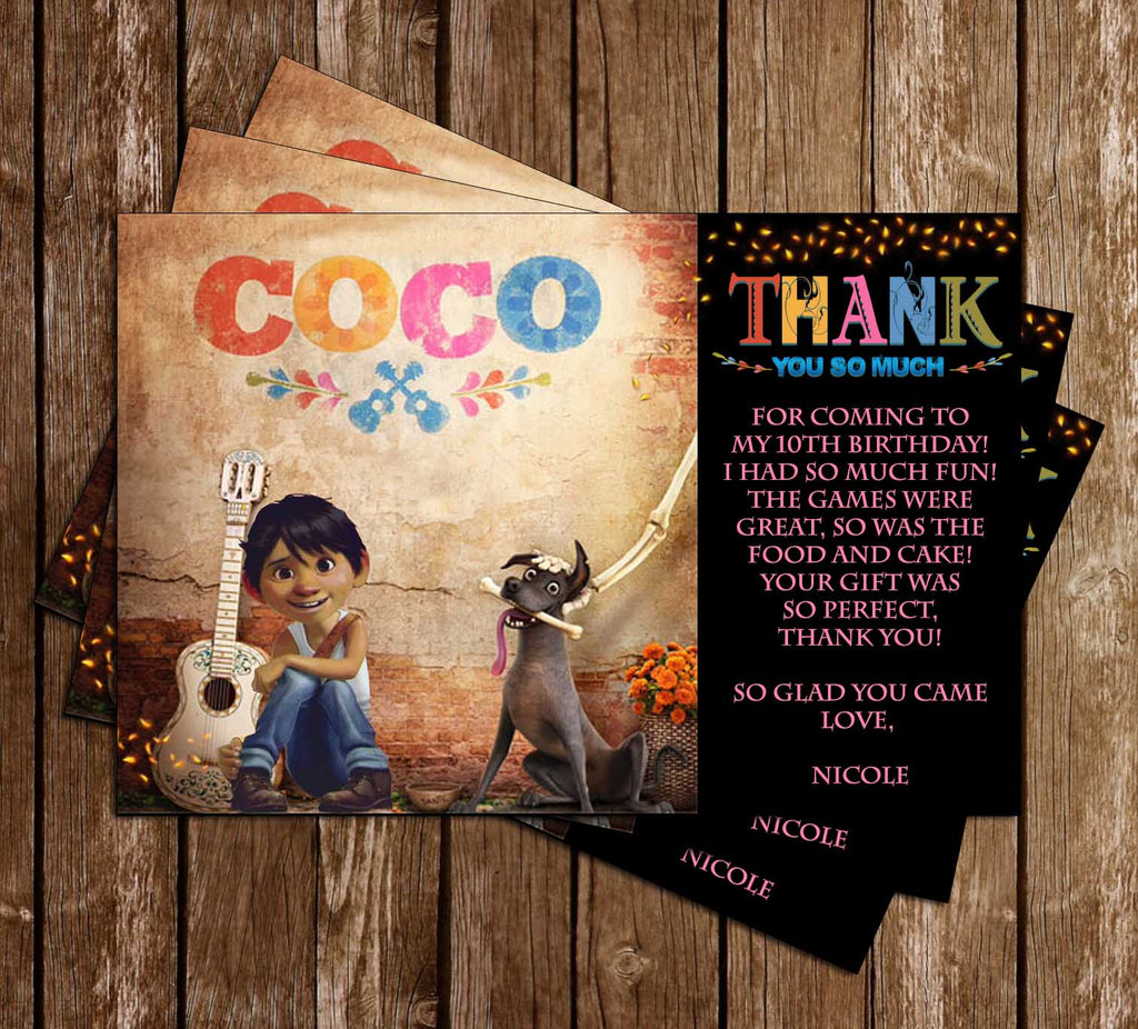 Novel Concept Designs Coco The Movie Birthday Party Invitation