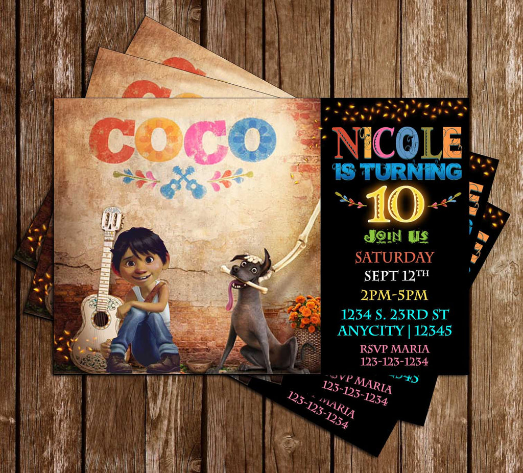 coco movie birthday party invitation - Movie Birthday Party Invitations