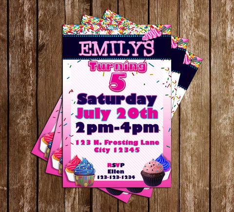 Cupcake - Dessert Party - Birthday Party - Invitation