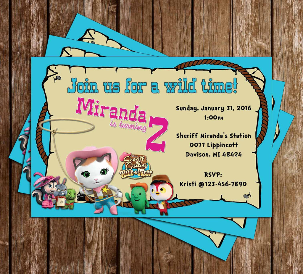 Disney Sheriff Callie's Wild West Birthday Invitations
