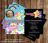 The Care Bears - Funshine Bear - Birthday Party Invitation