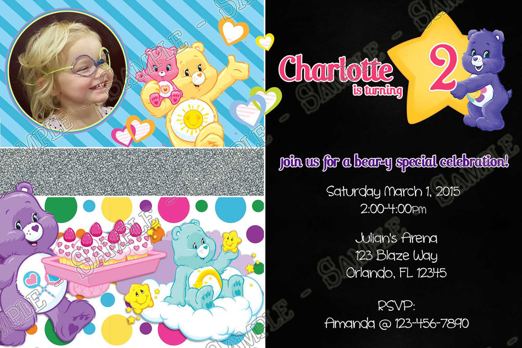 Novel concept designs the care bears funshine bear birthday the care bears funshine bear birthday party invitation filmwisefo