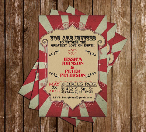Carnival - Bridal Shower - Invitation