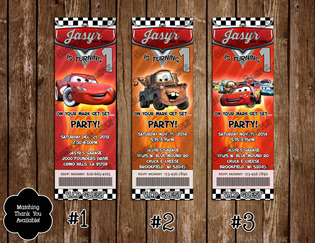 novel concept designs disney s cars movie birthday party ticket disney s cars movie birthday party ticket invitation