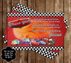 Disney's Cars Birthday Party Thank You Card