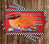 Disney's Cars 3 - Birthday Party Invitation