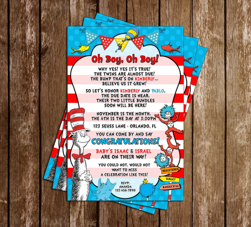 Novel Concept Designs - Boy, Oh Boy - Dr. Seuss - Twins - Baby ...