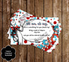 Cat in the Hat - Thing One & Thing Two - Baby Shower - Words of Wisdom Card