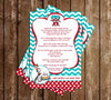 Cat in the Hat - Thing 1 and Thing 2 - Twins Baby Shower Invitation Printable