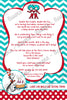 Thing 1 and Thing 2 - Cat in the Hat - Twins Baby Shower Invitation Printable