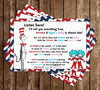 Cat in the Hat Baby Shower Invitation
