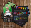 Kids Birthday Invitation - Chalkboard Birthday Invitation (Photo)