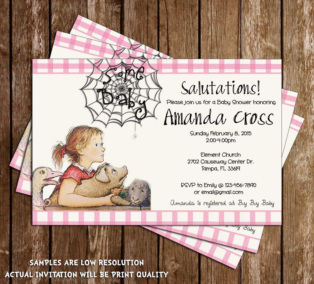 Novel Concept Designs Charlotte S Web Some Baby Baby Shower
