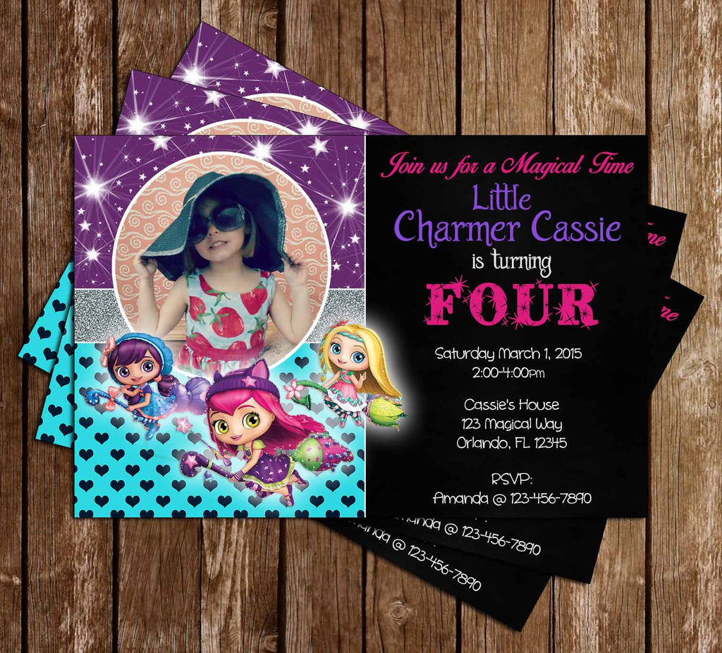 Nick Jr Little Charmers Birthday Party Invitation