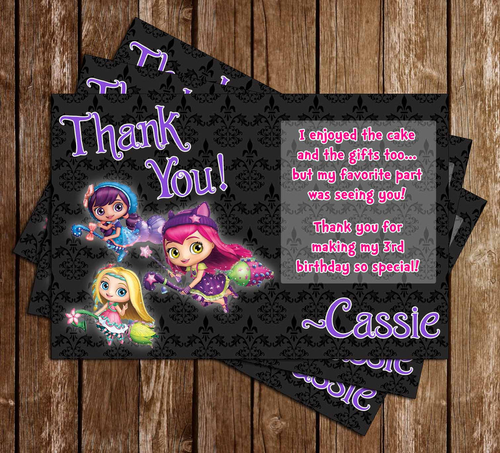 Little Charmers Show Birthday Thank You Card