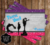 Cheerleading - Cheer Team Birthday Party Ticket Invitations (3 Designs!)