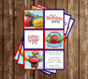 Disney Junior Chuggington Show Birthday Invitation (Blocks)