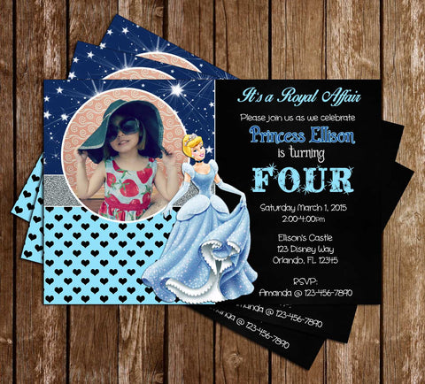 Disney Princess Cinderella Birthday Invitations