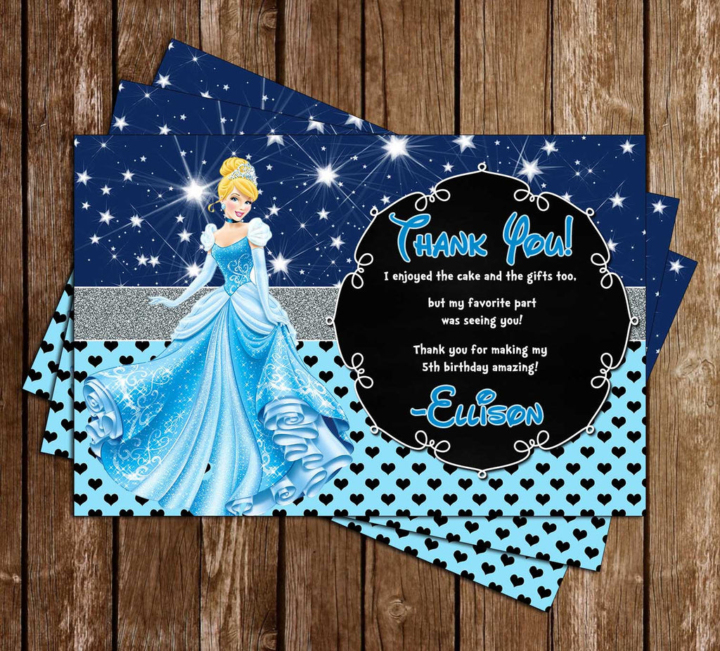 Disney Princess Cinderella Birthday Thank You Cards