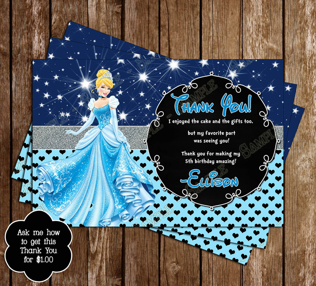 novel concept designs disney princess cinderella birthday invitation